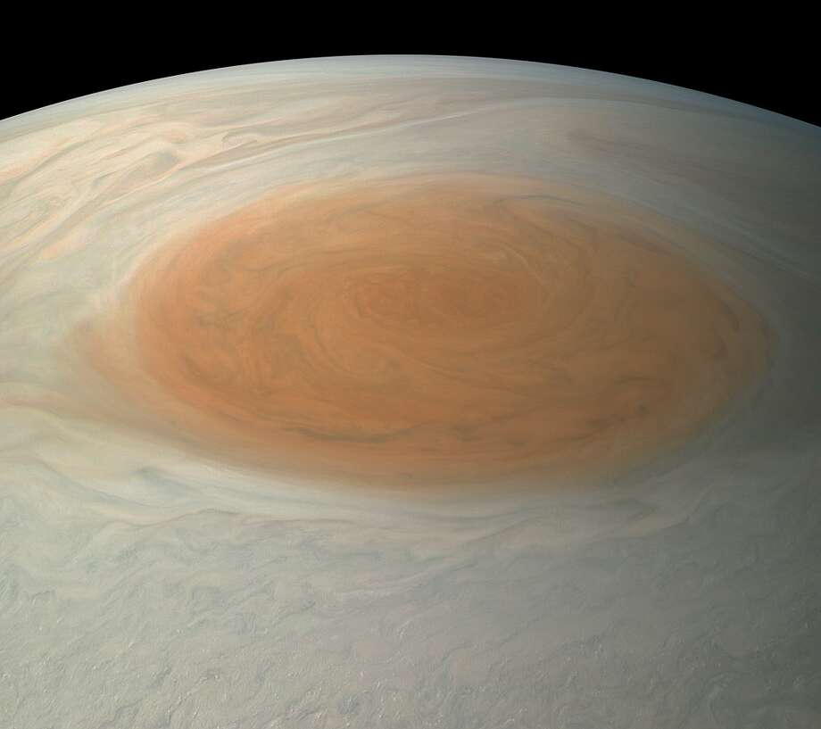 This true-color image offers a natural color rendition of what the Great Red Spot and surrounding areas would look like to human eyes from Juno's position. 