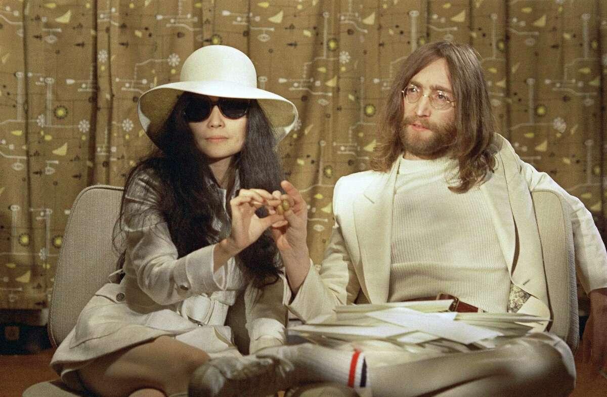 Beatle John Lennon and his Japanese wife Yoko Ono in 1969.