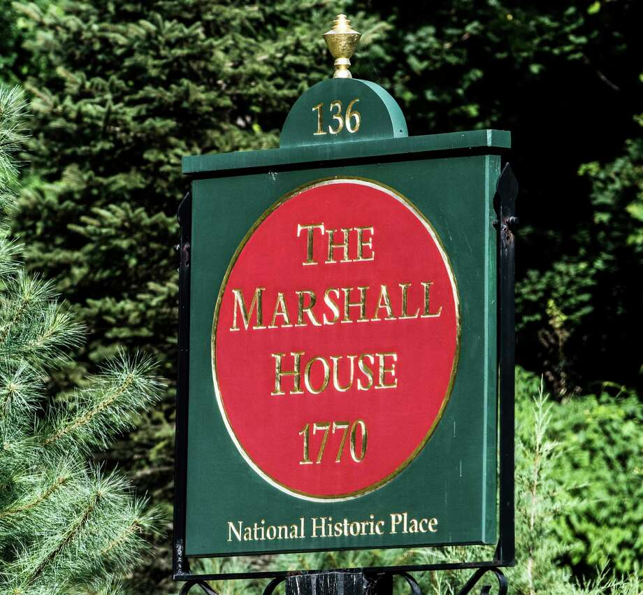 The marker on the road to the Marshall House Wednesday Aug. 3, 2017 in Schuylerville, N.Y. (Skip Dickstein/Times Union) Photo: SKIP DICKSTEIN, Albany Times Union / 20041183A
