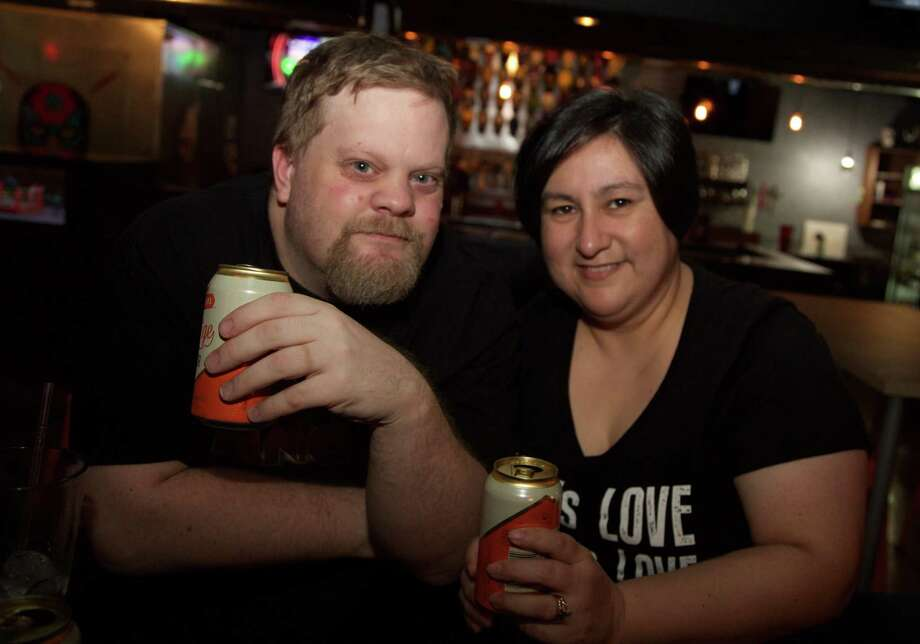Shane Fordyce and Paulina Quezada are at El Luchador Bar. Photo: By Xelina Flores /Special To The Express-News