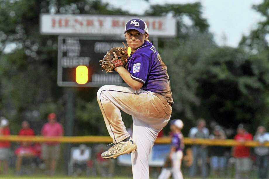 North Branford's Dylan Altermatt delivers a pitch during Saturday's Little League Section 1 championship game in Orange. Photo: Hearst Connecticut Media   / Connecticut Post Freelance