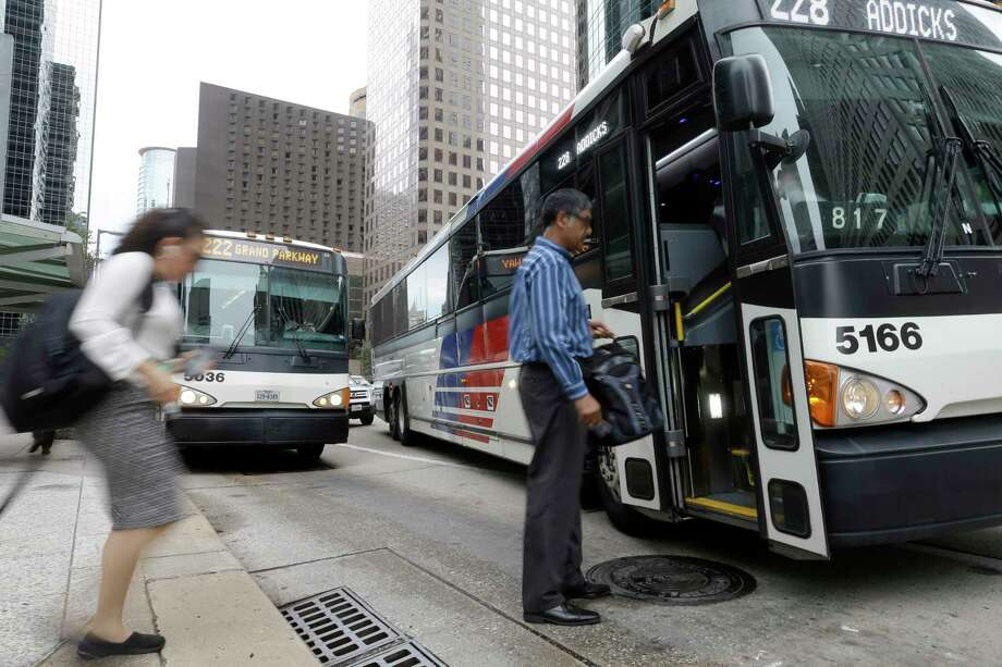 In Houston, ridership on the local bus lines, not including its park and