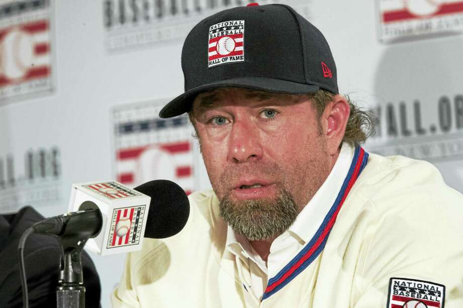 Mary Altaffer / associated press   Newly elected baseball Hall of Fame inductee Jeff Bagwell speaks to reporters during a news conference. Photo: AP / Copyright 2017 The Associated Press. All rights reserved.