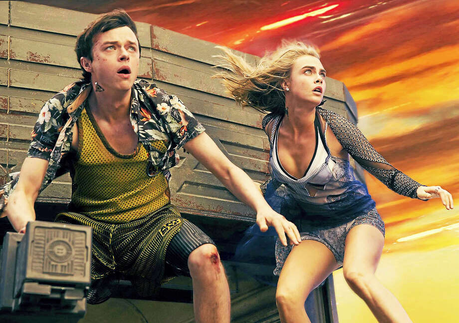 """Dane DeHaan and Cara Delevingne in the sci-fi extravaganza """"Valerian and the City of a Thousand Planets."""" Photo: Vikram Gounassegarin / STX Entertainment   / The Washington Post"""