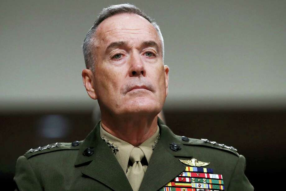 Jacquelyn Martin / associated press   Joint Chiefs Chairman Gen. Joseph Dunford listens on Capitol Hill in Washington. Photo: AP / Copyright 2017 The Associated Press. All rights reserved.