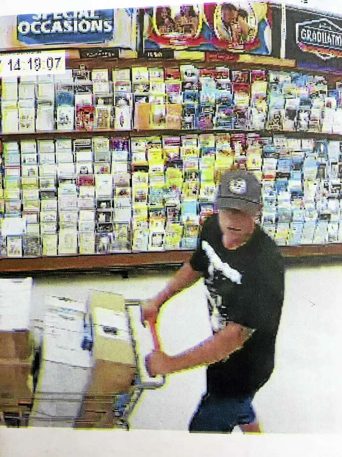 Police are looking for a man who stole $739 worth of merchandise from Walmart. Photo: Courtesy Of Hamden Police