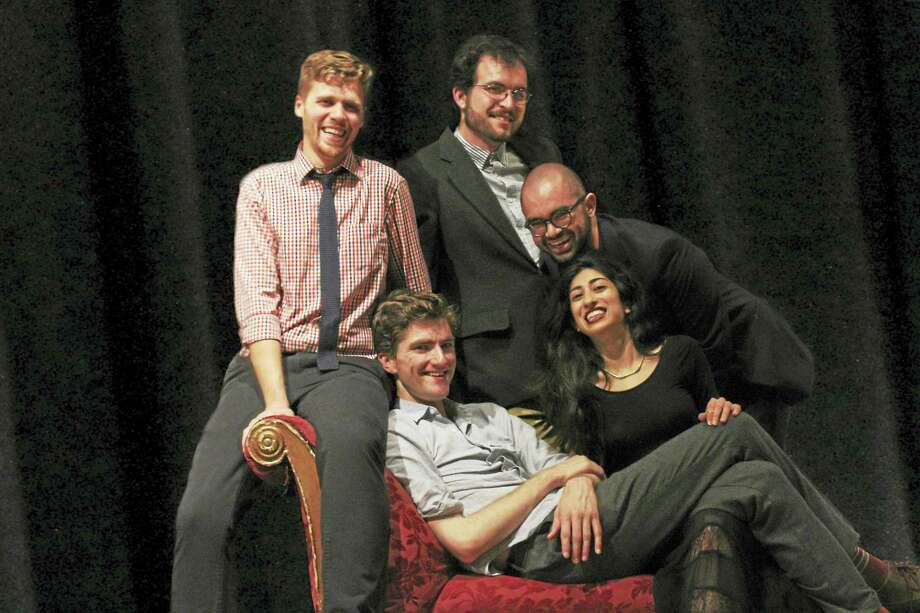 Yale Summer Cabaret leadership, from left, Trent Anderson, general manager; Rory Pelsue, co-artistic director, Dashiell Menard, production director; Leandro A. Zaneti, managing director; and Shadi Ghaheri, co-artistic director. Photo: Contributed