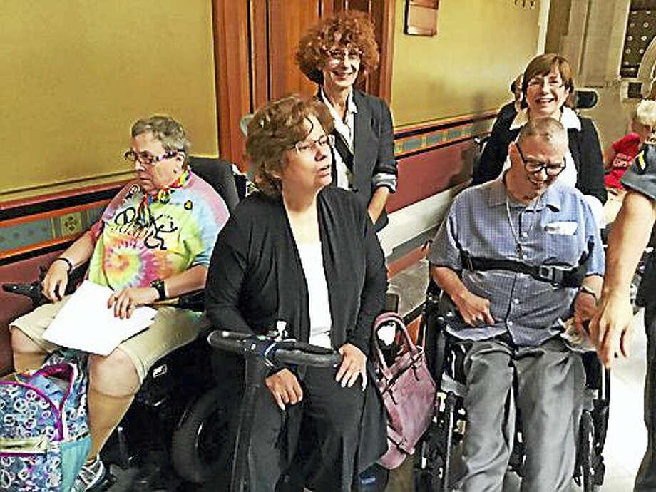 Elaine Kolb, Melissa Marshall, and Gary Gross Photo: Jack Kramer / Ctnewsjunkie