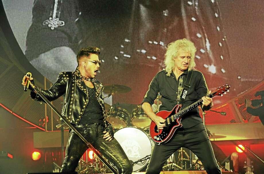 Adam Lambert and Brian May in concert. Photo: Photo Courtesy Of Neal Preston