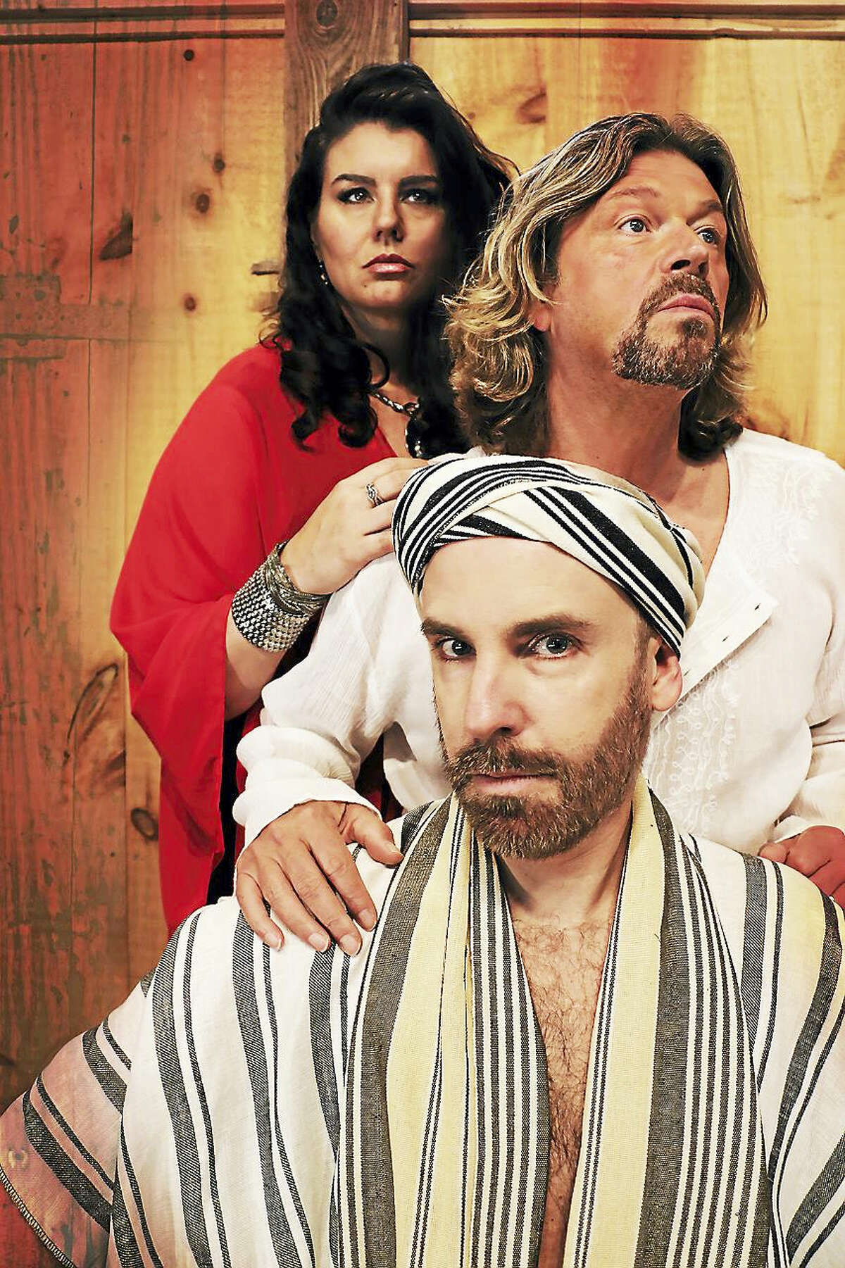 """From top, Rochelle Bard, Marc Deaton and John Johmann in """"Jesus Christ Superstar."""""""