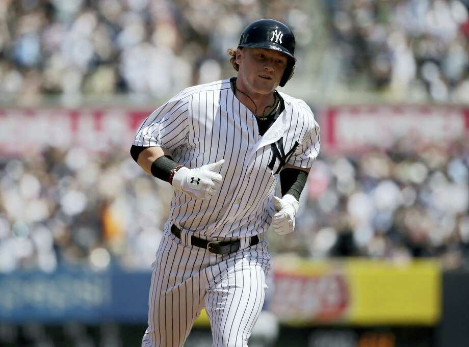 New York Yankees' Clint Frazier rounds the bases after hitting a two-run home run during the fourth inning of a baseball game against the Milwaukee Brewers at Yankee Stadium July 9, 2017 in New York. Photo: AP Photo — Seth Wenig   / Copyright 2017 The Associated Press. All rights reserved.