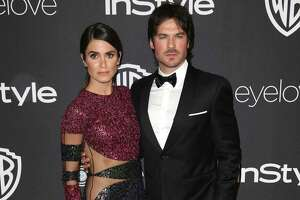 Nikki Reed, left, and Ian Somerhalder arrive at the InStyle and Warner Bros. Golden Globes afterparty at the Beverly Hilton Hotel on Sunday, Jan. 8, 2017, in Beverly Hills, Calif.
