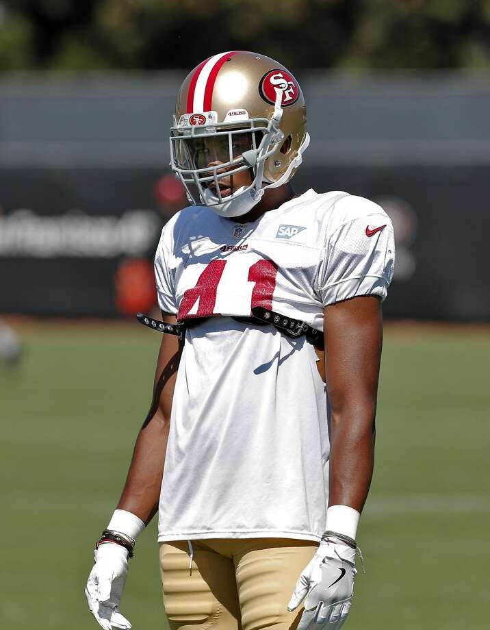 Ahkello Witherspoon (41) during practice at Levi's Stadium in Santa Clara, Calif., on Sunday, July 30, 2017. Photo: Carlos Avila Gonzalez, The Chronicle