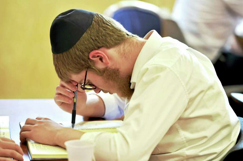 Jewish high school students at the Yeshivas Beis Dovid Shlomo of New Haven in a group study during a summer session at  the 292 Norton St. school in New Haven. Photo: Peter Hvizdak / Hearst Connecticut Media
