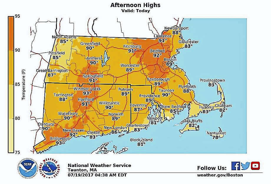 Source: National Weather Service Photo: Hearst CT Media
