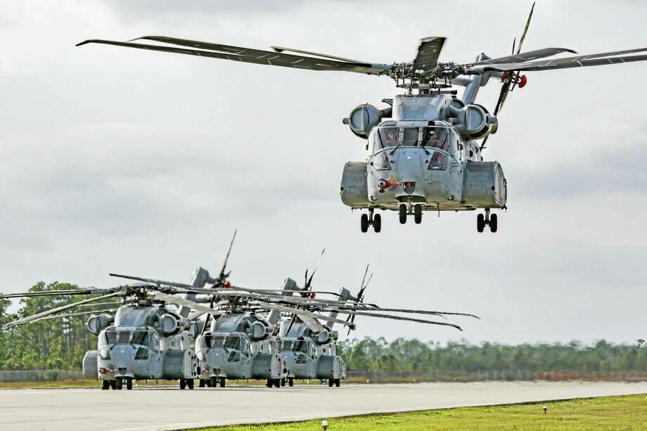 The Sikorsky CH53-K aloft on Dec. 21, 2016, during a flight test at West Palm Beach, Fla. Photo: Contributed Photo / Lockheed Martin