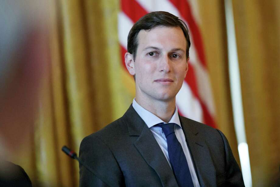 """AP Photo/Evan Vucci, File  In this June 22, 2017, file photo, White House senior adviser Jared Kushner listens during the """"American Leadership in Emerging Technology"""" event with President Donald Trump in the East Room of the White House in Washington. Members of the Trump campaign'Äôs inner circle, including his eldest son and son-in-law, are being called before Senate committees next week to talk about the 2016 election. Kushner will speak to the Senate intelligence committee on July 24. Photo: AP / Copyright 2017 The Associated Press. All rights reserved."""