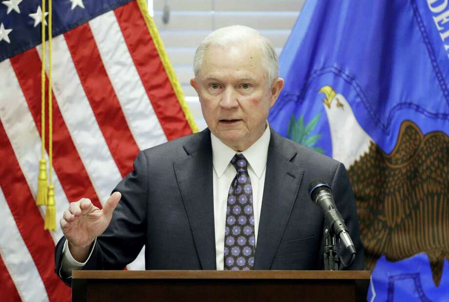 John Locher / AP Photo, File  In this July 12, 2017, file photo, Attorney General Jeff Sessions speaks in Las Vegas. President Donald Trump says he never would have appointed Sessions as attorney general had he known Sessions would recuse himself from overseeing the Russia investigation. Trump makes the extraordinary statement about Sessions in an interview with the New York Times Wednesday, July 19. Photo: AP / Copyright 2017 The Associated Press. All rights reserved.