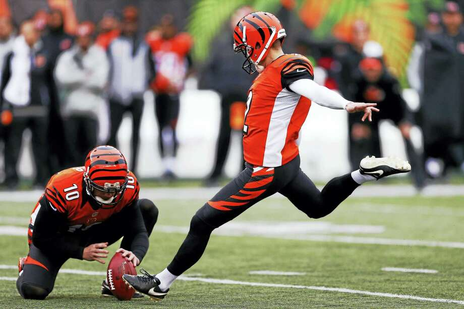 The Giants signed former Cincinnati Bengals kicker Mike Nugent on Tuesday. Photo: Gary Landers — The Associated Press   / AP