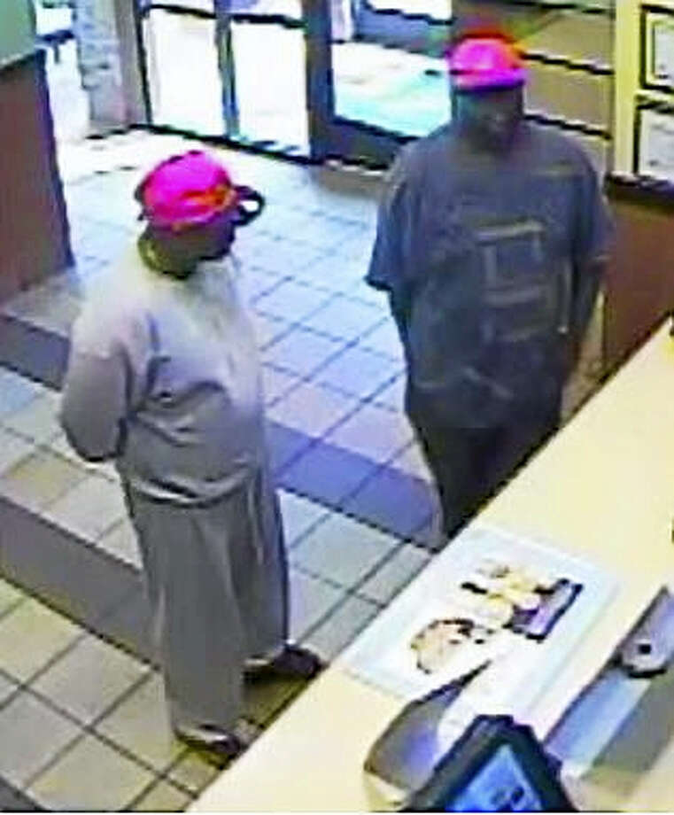 Police are looking to identify two suspects in an attempted robbery where the suspects left without any money when the employee walked away from the register. Photo: Courtesy Of Milford Police