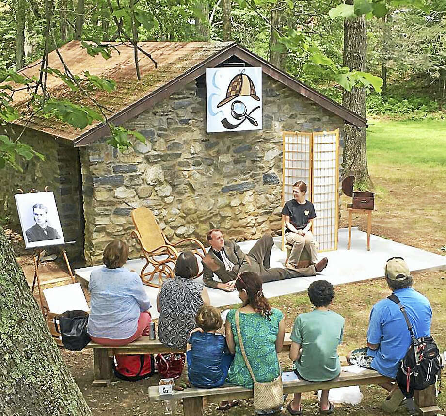 The East Haddam Stage Company performs live theater at Gillette Castle State Park in East Haddam Saturdays and Sundays at 1 and 2:30 p.m. through Aug. 13. Photo: Photo Courtesy Of Kandie Carle