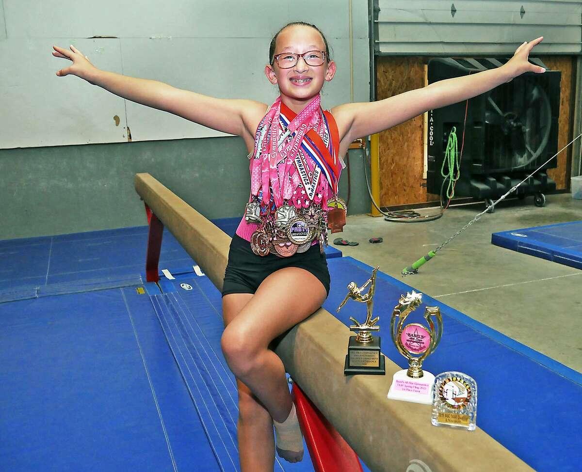 Jischke Gymnastics travel team member, Arianna Torres.