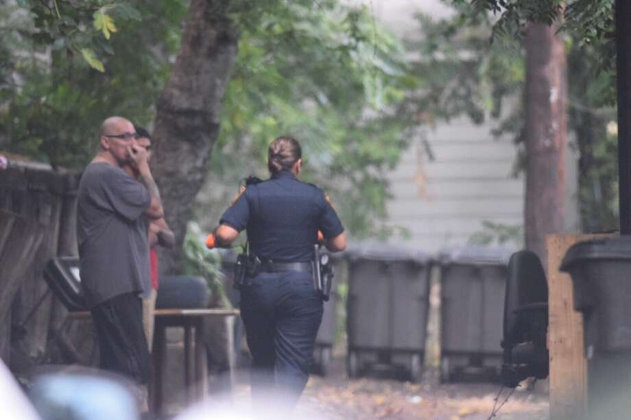 A man attacked two women with a machete Thursday morning in the 200 block of Army Boulevard and then led police on a chase. Photo: Caleb Downs / San Antonio Express-News
