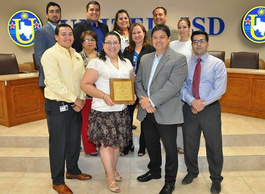 Pictured in the front row, from left: Norberto Martinez, accountant; Irene Ruiz Sr., accountant; Belinda Salazar, budget manager; Laida P. Benavides, assistant superintendent for business and finance; Samuel D. Flores, comptroller; and Ramiro Santos, accountant. In the back row, from left, are: Enrique Garcia, accountant; Felipe Jimenez, activities fund manager; Rosa Cabello, account manager; Mark Ceballos, payroll manager, and Valerie Peña, accountant. Photo: Courtesy