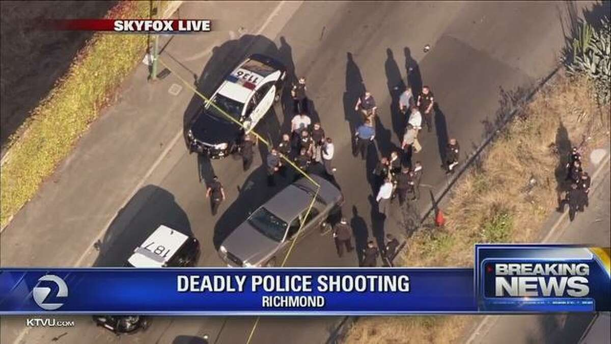 Five Vallejo police officers fatally shot a 45-year-old armed robbery suspect Wednesday evening in Richmond after a brief police chase, officials said.