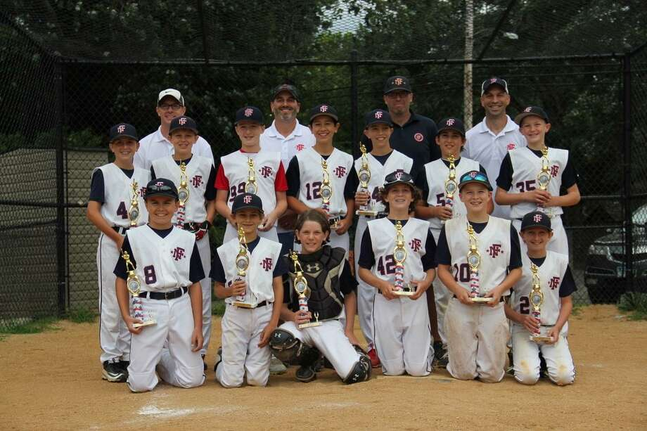 The Fairfield National 12U team won the Cal Ripken Xtreme League for the second year in a row. Pictured are: first row, Kneeling (L to R):  Andrew Rhoades, Jonah Rosenbaum, Aidan Roche, Will Passarelli, Adam Kamin and Jack Doonan. Standing: Griffin Connelly, Cole Davin, Zack Sullivan, Tyler Rayburn, Will Stellato, Thomas Fremont and Kyle Carozza. Not Pictured, Colin Frey. Coaches: Brian Connelly, Howard Rosenbaum, Tom Fremont, Paul Stellato. Not Pictured, Kevin Frey. Photo: Contributed Photo