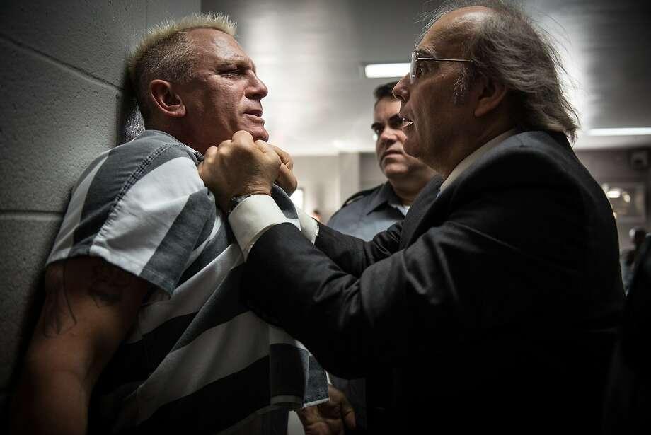 """Daniel Craig stars as Joe Bang and Dwight Yoakam as Warden Burns in Steven Soderbergh's """"Logan Lucky."""" Photo: Bleecker Street"""