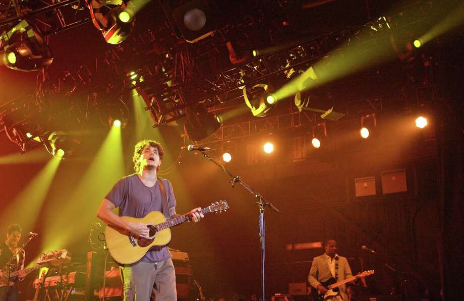John Mayer performs during his Battle Studies tour stop Sunday at the Cynthia Woods Mitchell Pavilion in The Woodlands. Photo: Eric S. Swist, MBR / Staff photo by Eric S. Swist