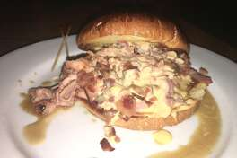Pictured: the sensational drunken pig sandwich from Gabby Goat American Pub and Grill in Effingham.