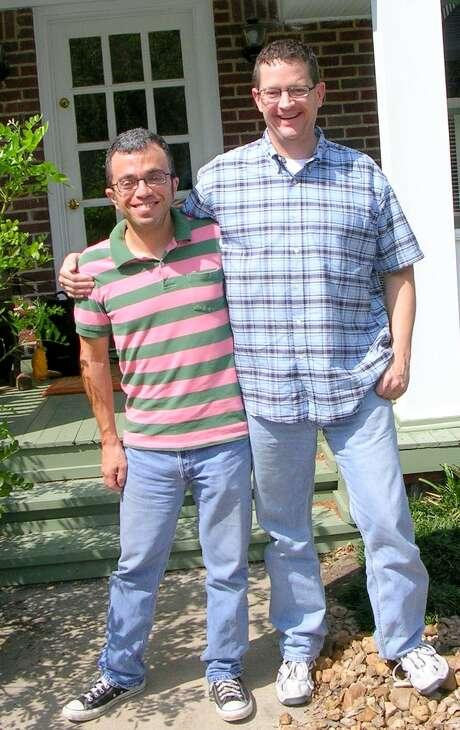 Me, left, with David. Photo: Dennis Abrams