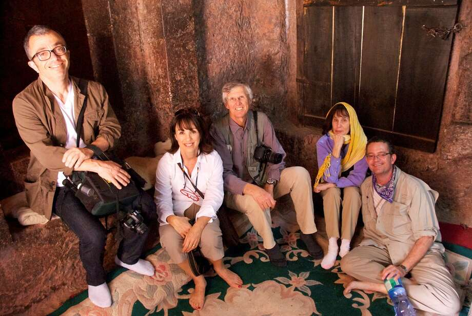 David (far right) in the days when we traveled to exotic places. Part of me says I should take him myself; the other part knows I simply can't do it. Photo: Dennis Abrams