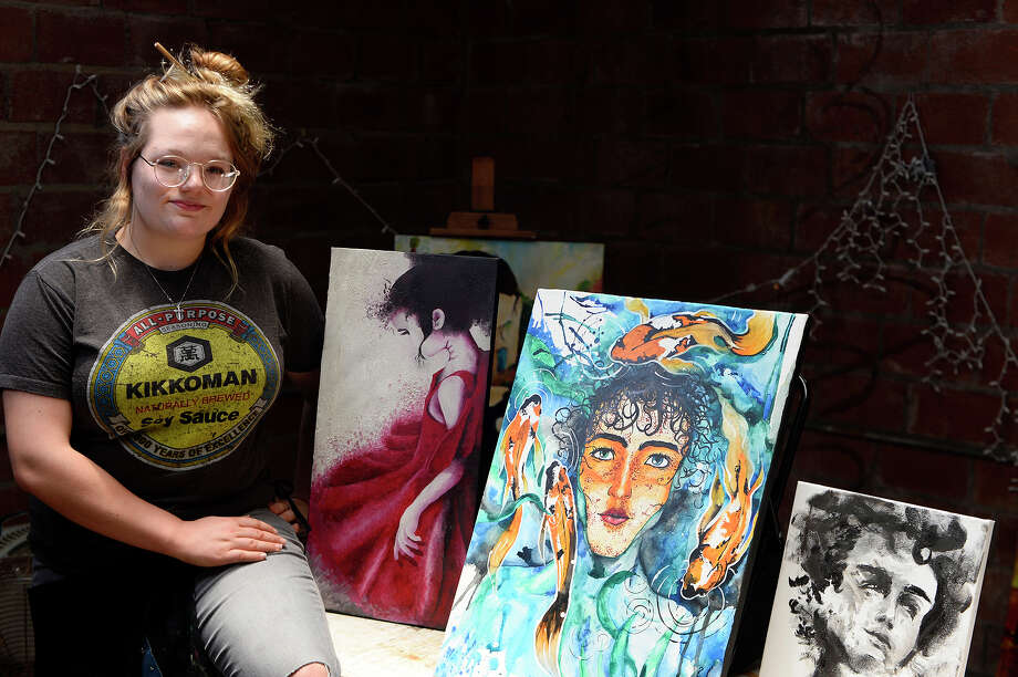 Madison Stuckey poses in her studio space at The Art Studio, Inc.  Photo taken Thursday 7/27/17 Ryan Pelham/The Enterprise Photo: Ryan Pelham / ©2017 The Beaumont Enterprise/Ryan Pelham