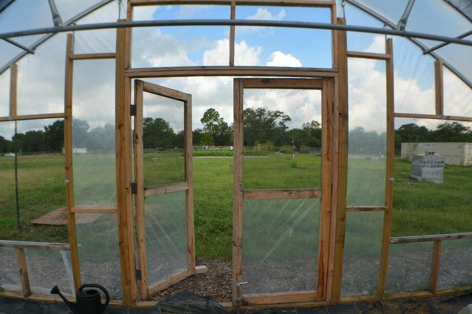 SUNNYSIDE - A greenhouse under construction at Hope Farms located in Sunnyside. (Aug. 2, 2017) Photo: John D. Harden / Houston Chronicle)