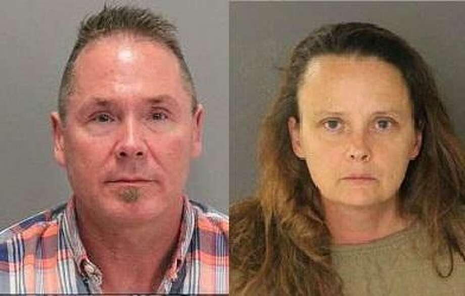 Michael Kellar and Gail Burnworth, both of Washington, were arrested after Kellar was spotted in a Southwest Airlines flight to San Jose texting Bunsworth in large-font about molesting children, police said. Photo: San Jose Police Department