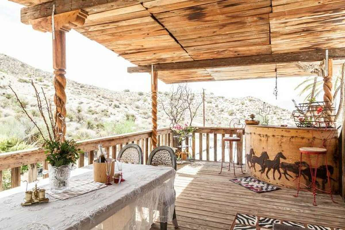 The Love Nest, Morongo Valley, CA Hit the ranch by staying at The Love Nest, located near Palm Springs and Joshua Tree. A bohemian Wild West theme pervades the space, which even has a