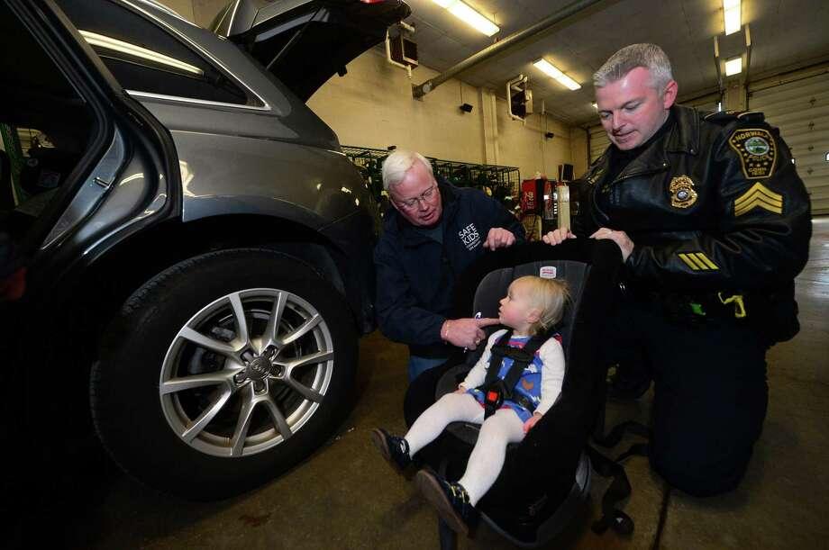 Mark Blake Of Safe Kids CT And Norwalk Police Sgt Terry Assist Clara Denoyre