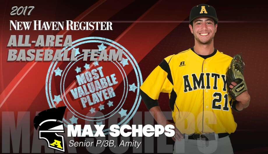 2017 All-Area Baseball: Max Scheps, Amity MVP Photo: NHR Staff