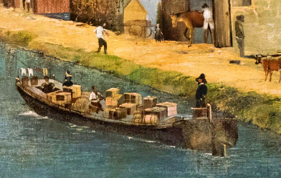 S. Georges, Erie Canal, 1856, oil on canvas. Provided by William Jaeger.