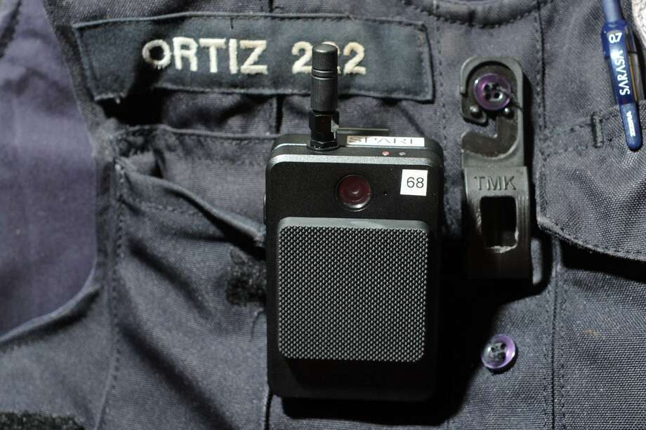 The Stratford Police Department are now wearing body cameras while on patrol, in Stratford, Conn. Aug. 3, 2017. Photo: Ned Gerard / Hearst Connecticut Media / Connecticut Post