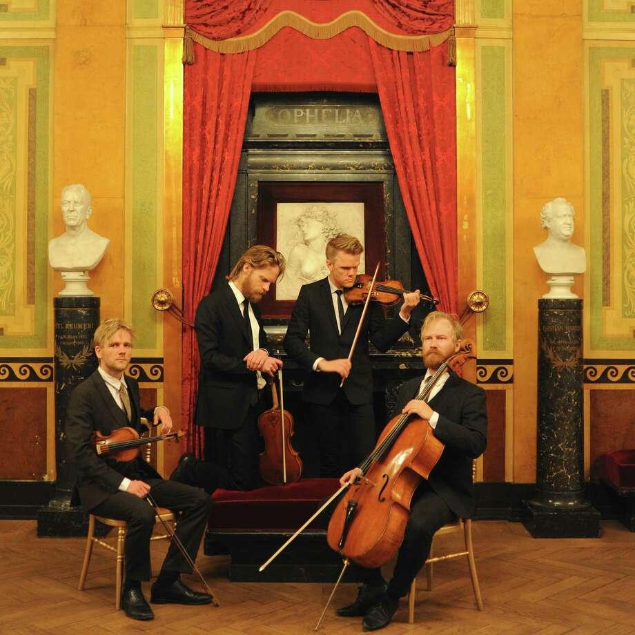 The Danish String Quartet, from left: Rune Tonsgaard Sorensen, Asbjorn Norgaard, Frederik Øland and Fredrik Schoyen Sjolin (photo by Caroline Bittencourt)
