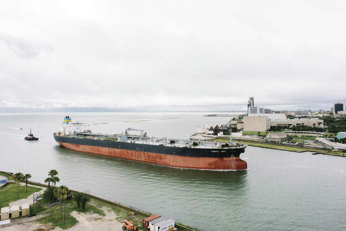 Valero operates two refineries in the Port of Corpus Christi, pictured here. The port has become a focal point for U.S. crude oil exports.