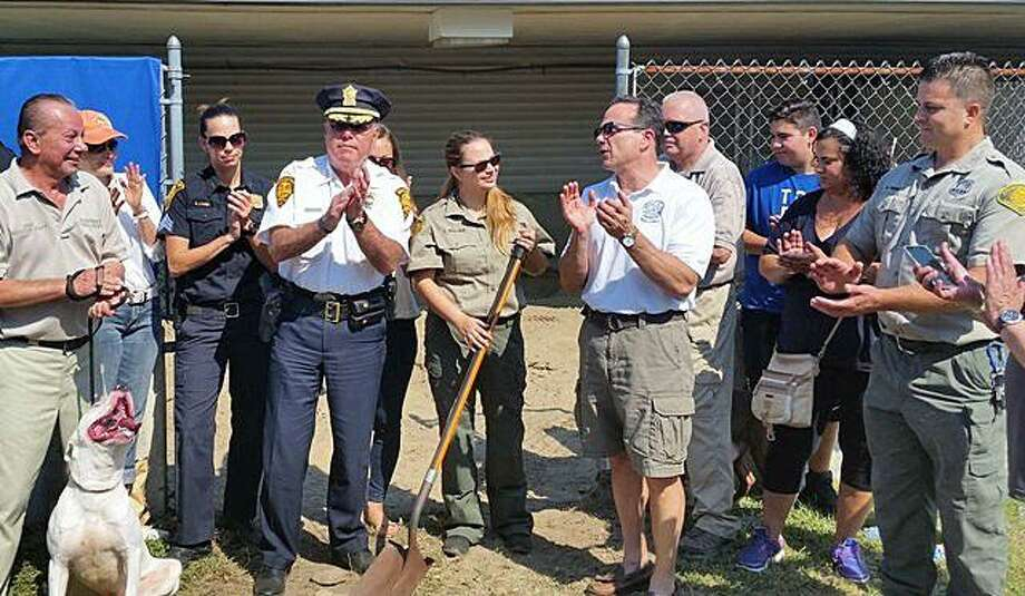 The Bridgeport Animal Control raised $40,000 to build outdoor play areas for dogs, a press release from the mayor's office said. Photo: Contributed Photo / Mayor's Office / Contributed Photo / Connecticut Post Contributed