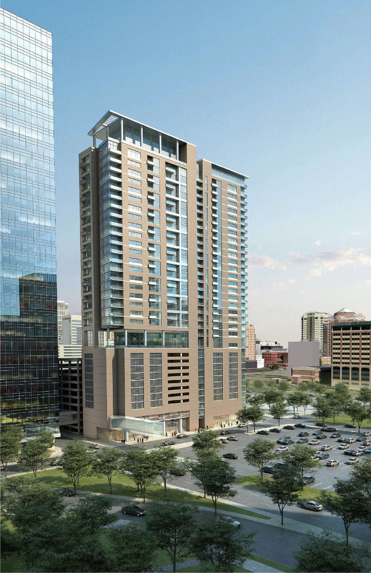 Ziegler Cooper designed this Trammell Crow residential tower slated for downtown Houston. (Courtesy of Houston Downtown Management District)