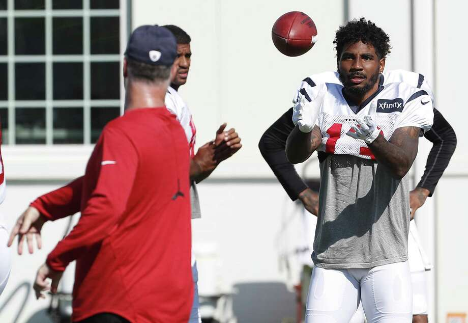 Houston Texans wide receiver Braxton Miller (13) reaches out to catch a ball during training camp at The Greenbrier on Aug. 2, 2017, in White Sulphur Springs, W.Va. Photo: Brett Coomer /Houston Chronicle / © 2017 Houston Chronicle}