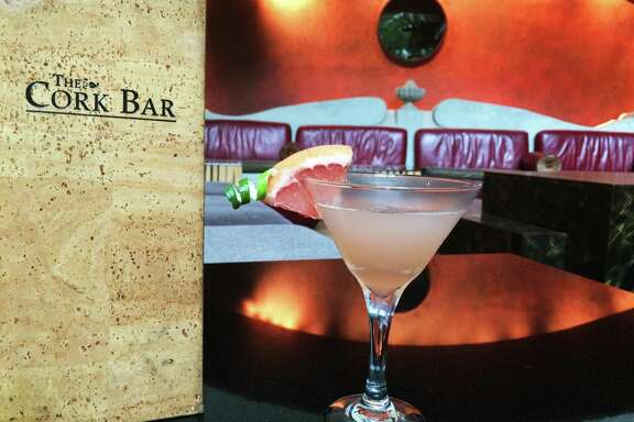 Cork Bar at Hotel Contessa (San Antonio) - Hemingway Martini: Made with Bacardi Rum, Cointreau, grapefruit juice, lime juice, simple syrup garnished with grapefruit wedge and lime twist.