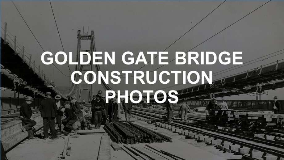 click ahead to see photos of golden gate bridge construction from the chronicle archives photo